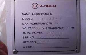 Четырехсторонний станок V-HOLD MB4023Х6