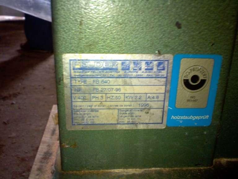 Вертикальный ленточнопильный станок FELDER FB 640